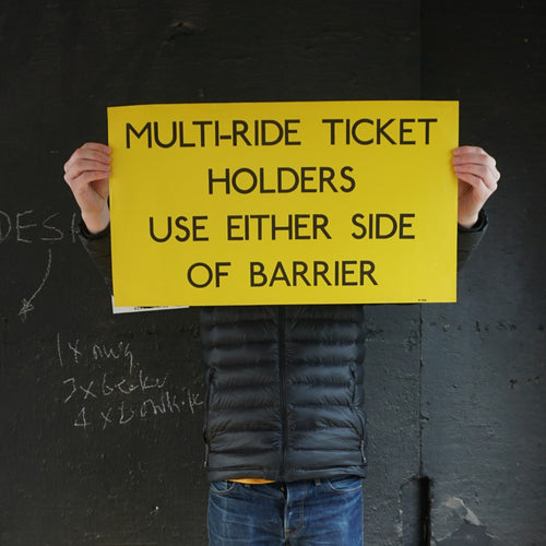 Multi-Ride Ticket Holders Information Poster