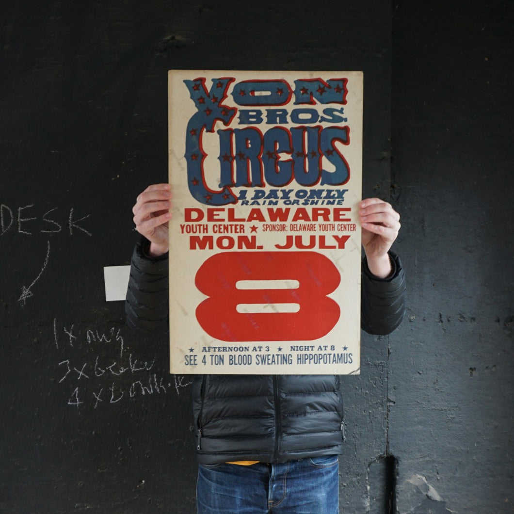 Von Bros Circus Poster - Mon July 8th