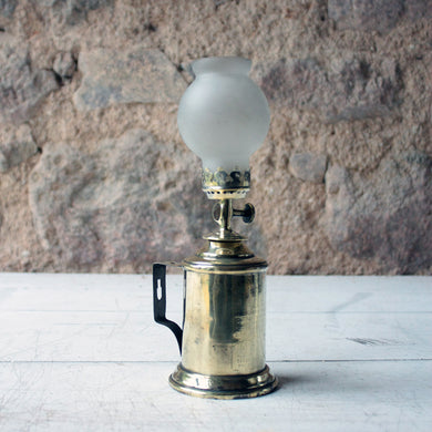 Beautiful Brass French Antique Petrol Lamp