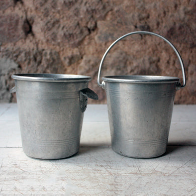 French Vintage Metal Ice Bucket