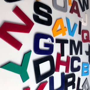 Large Letters and Numbers Solid Perspex