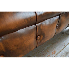 Load image into Gallery viewer, Handmade 2 Seater Chesterfield Leather Sofa - Tan