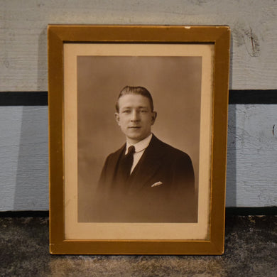 Framed 1940/50s Vintage Dapper Chap Photo