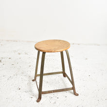 Load image into Gallery viewer, French Industrial Factory Stool