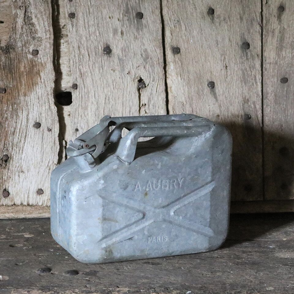 French Vintage Galvanised Jerry Can - 10L