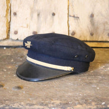 Load image into Gallery viewer, French Vintage Wool Postman's Hat