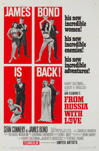 From Russia With Love 1963 original vintage US 1 sheet James Bond film movie poster