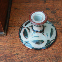 Load image into Gallery viewer, Vintage Glazed Stoneware Candlestick Holder