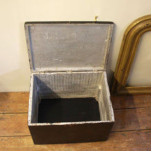 Load image into Gallery viewer, Vintage Black Wooden Tackle Box