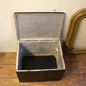 Vintage Black Wooden Tackle Box