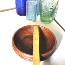 Load image into Gallery viewer, Vintage Hand Turned Wooden Trinket Bowl