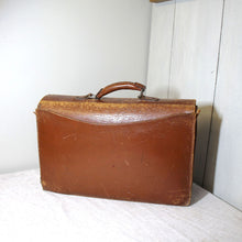 Load image into Gallery viewer, Vintage Leather Satchel Circa 1950s
