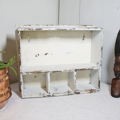 Vintage Rustic Chippy Wall Mountable Display Box