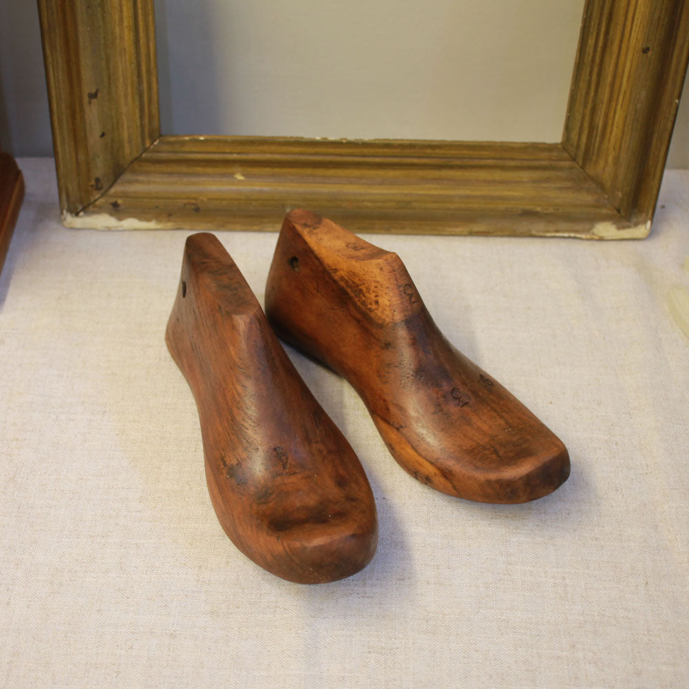 Antique Polished Wooden Shoe Lasts - Size 3-4