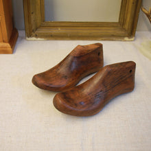 Load image into Gallery viewer, Antique Polished Wooden Shoe Lasts - Size 3-4