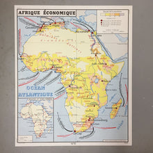 Load image into Gallery viewer, Double Sided French School Map - Europe & Africa