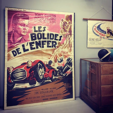 Original Movie Poster - Les Bolides De L'Enfer 1969
