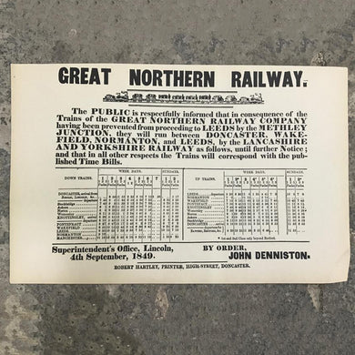 Great Northern Railway print