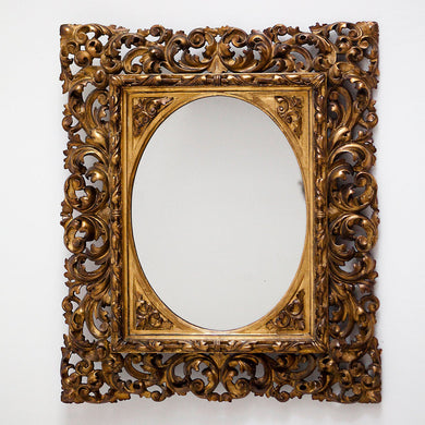 19th Century Antique Giltwood Mirror