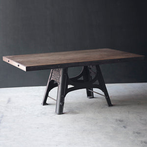 Barford & Perkins Industrial Dining Table - Cast Iron Base