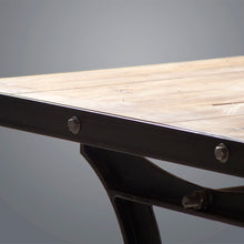 Load image into Gallery viewer, Barford & Perkins Industrial Dining Table - Cast Iron Base
