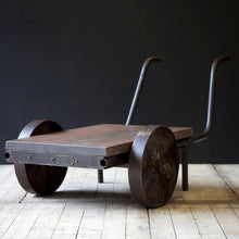 Load image into Gallery viewer, Industrial Welders Cart Coffee Table / Planter Display / Garden Ornament