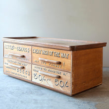 Load image into Gallery viewer, Large Vintage Haberdashery Four Drawer Cabinet