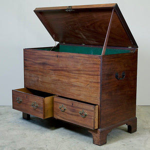 Mid 18th Century George II Mahogany Mule or Marriage Chest