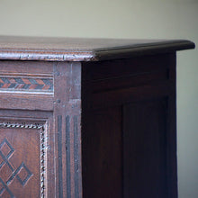 Load image into Gallery viewer, Oak Coffer / Chest with Parquet Pattern Work