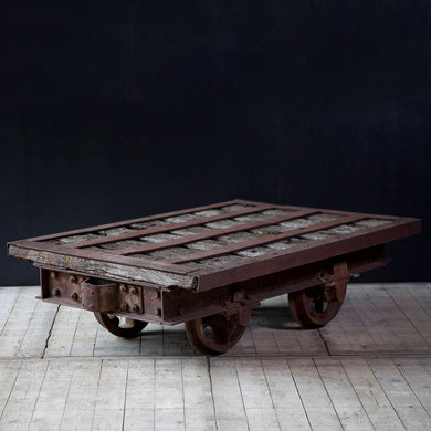 Original Miners Cart Coffee Table