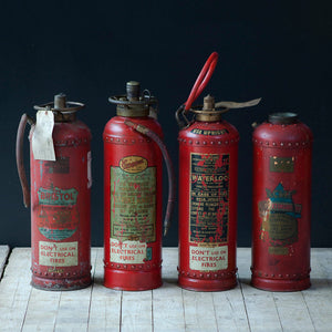 Vintage Painted Copper Fire Extinguisher
