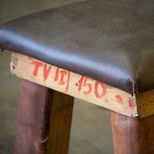 Load image into Gallery viewer, Vintage Leather Gym Bench