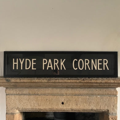 Framed Vintage Bus Blind - Hyde Park Corner