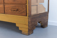 Load image into Gallery viewer, Vintage Glazed Haberdashery Cabinet / Counter with Drawers