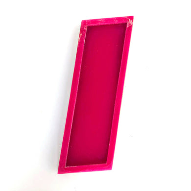 I - Medium Factory Shop Letter Ply Wood & Perspex - Pink