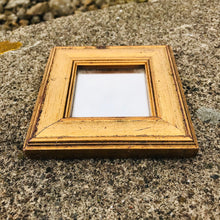 Load image into Gallery viewer, Small Square Golden Wood Mirror