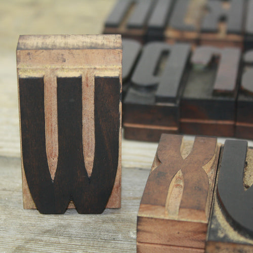 Italian Letterpress - Lowercase