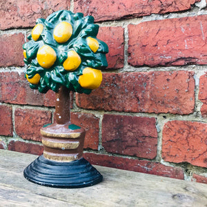 Vintage Orange Tree Cast Iron Door Stop