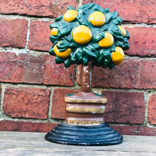 Load image into Gallery viewer, Vintage Orange Tree Cast Iron Door Stop