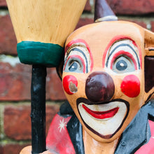 Load image into Gallery viewer, Wooden Hand Carved Vintage Clown