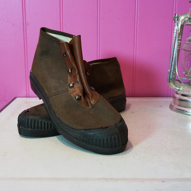 Dead Stock French Canvas & Leather Boots