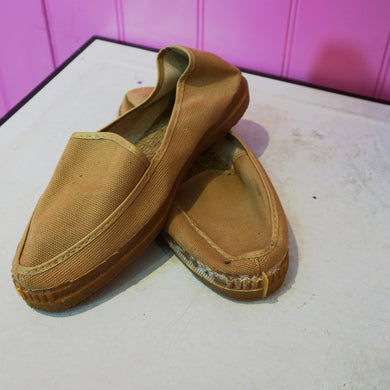 Dead Stock French Vintage Canvas Shoes