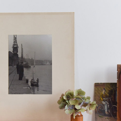 Vintage Original Photograph of a Harbour by Photographer Ian Reeves