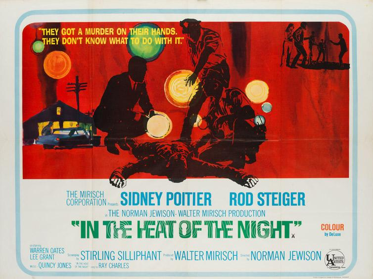 The the Heat of the Night 1967 UK Quad original film movie poster