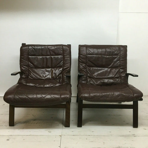 Scandi Bentwood Armchairs - Pair