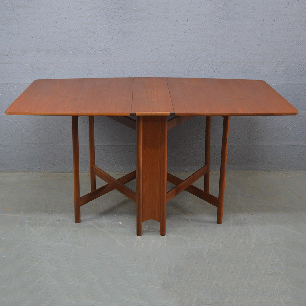 Mid Century Drop Leaf Dining Table By A.H. McIntosh