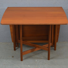Load image into Gallery viewer, Mid Century Drop Leaf Dining Table By A.H. McIntosh