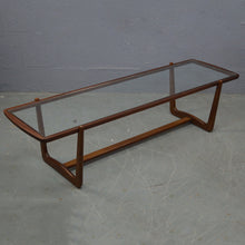 Load image into Gallery viewer, Mid Century Glass Topped Coffee Table