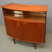 Load image into Gallery viewer, Mid Century Teak Cocktail Bar / Cabinet