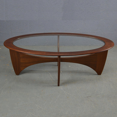 Mid Century Oval Teak Astro Coffee Table By G Plan